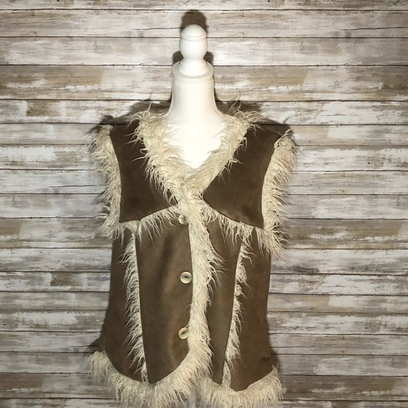 Powder River Outfitters Jackets & Blazers - Powder River Outfitters faux fur vest